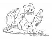 Дракон в упряже, мультфильм как приручить дракона Раскраски для мальчиков бесплатно