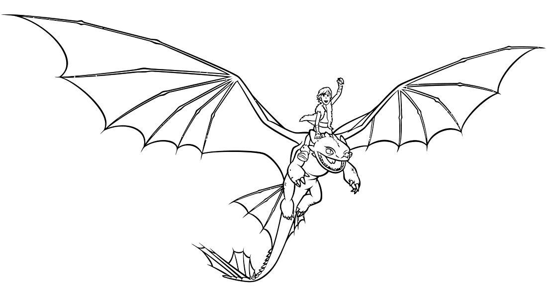 Викинг верхом на драконе Раскраски для мальчиков бесплатно