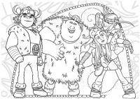 Викинги, мультфильм как приручить дракона Раскраски для мальчиков бесплатно