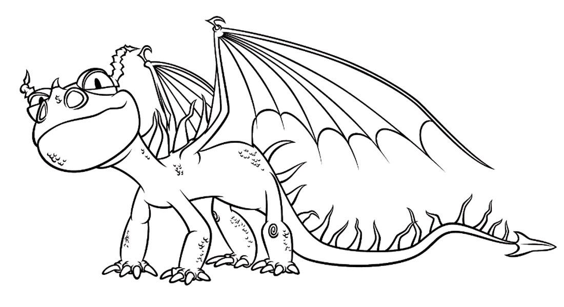 Дракон с открытыми крыльями Раскраски для мальчиков