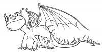 Дракон с открытыми крыльями Раскраски для детей мальчиков