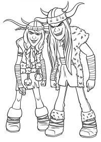 Викинги близнецы Раскраски для мальчиков бесплатно