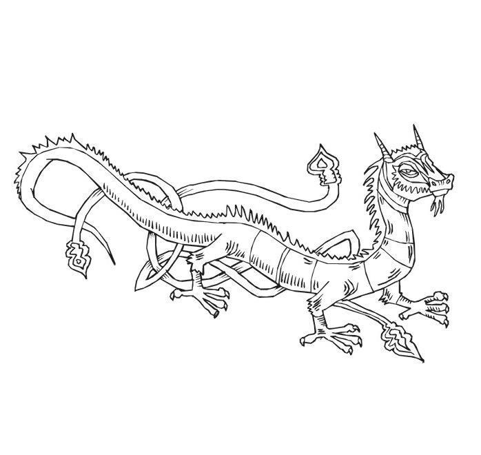 Китайский дракон Раскраски для детей мальчиков