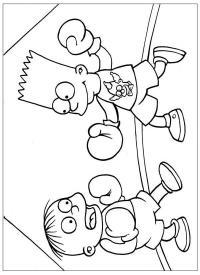 Бокс симсы Распечатать раскраски для мальчиков