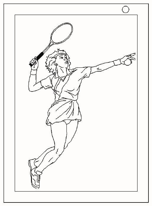 Теннис Раскраски для мальчиков