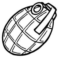 Осколочная граната Раскраски для мальчиков