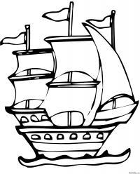 Старый парусный фрегат Раскрашивать раскраски для мальчиков