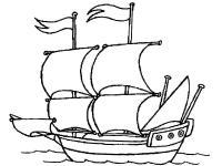 Корабль на море Раскрашивать раскраски для мальчиков