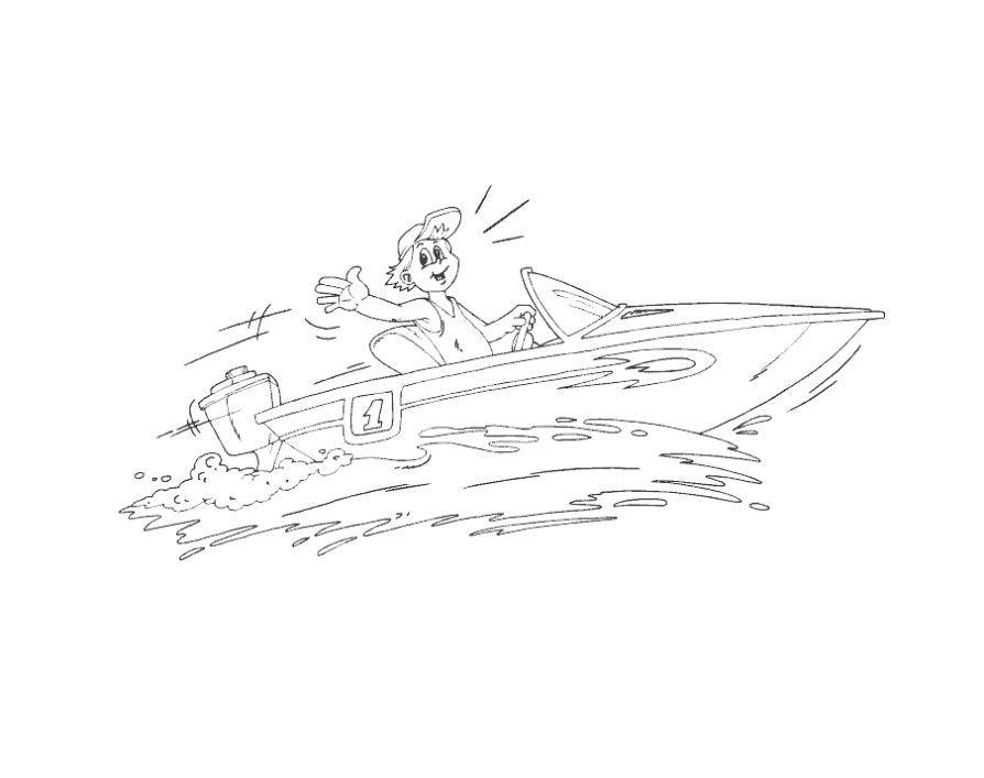 Мини катер Раскраски для мальчиков