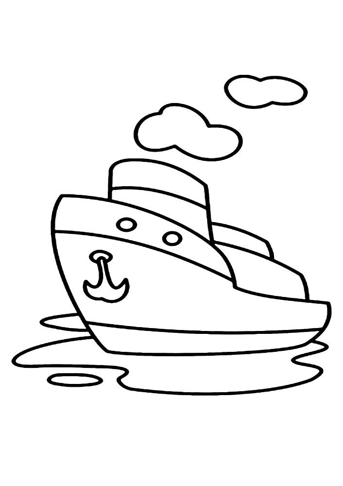 Кораблик Раскрашивать раскраски для мальчиков