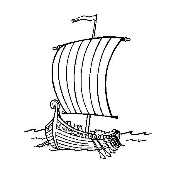 Судно викингов Раскраски для мальчиков