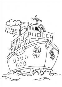 пароход Раскрашивать раскраски для мальчиков