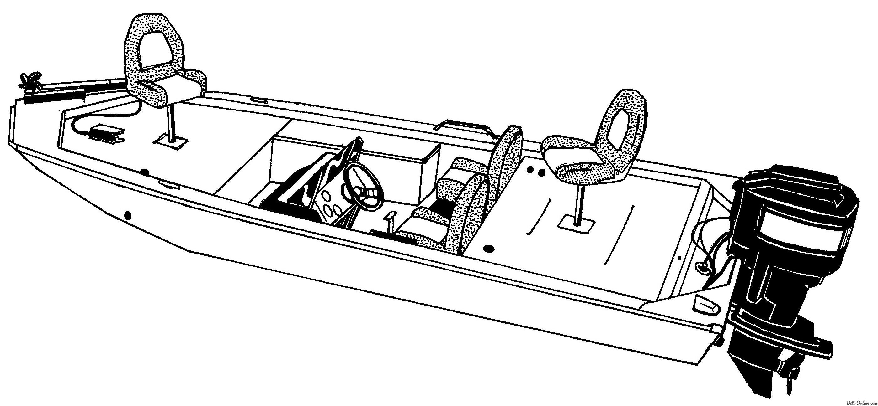 Моторная лодка Раскраски для мальчиков