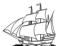 Древний фрегат Раскрашивать раскраски для мальчиков