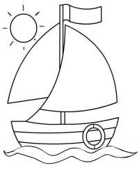 Лодка в солнечный день Раскраски для мальчиков