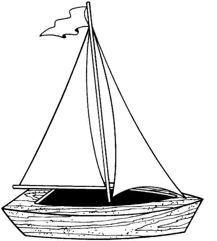 Деревянная парусная лодка Раскраски для мальчиков