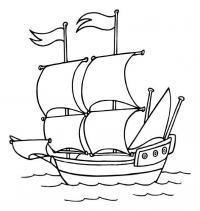 Красивая лодка Раскраски для мальчиков