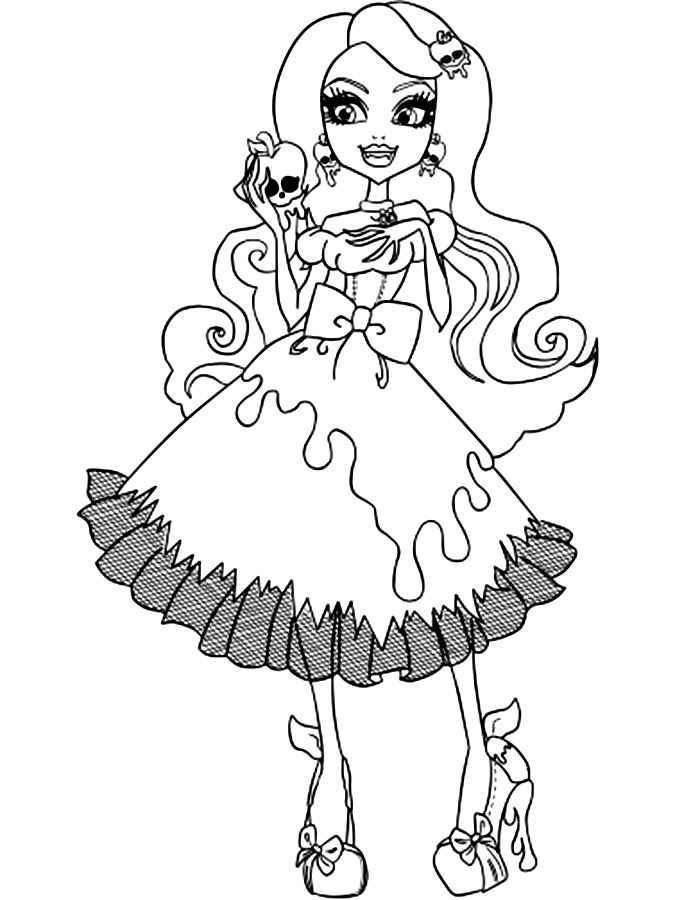 Раскраски платья монстр хай