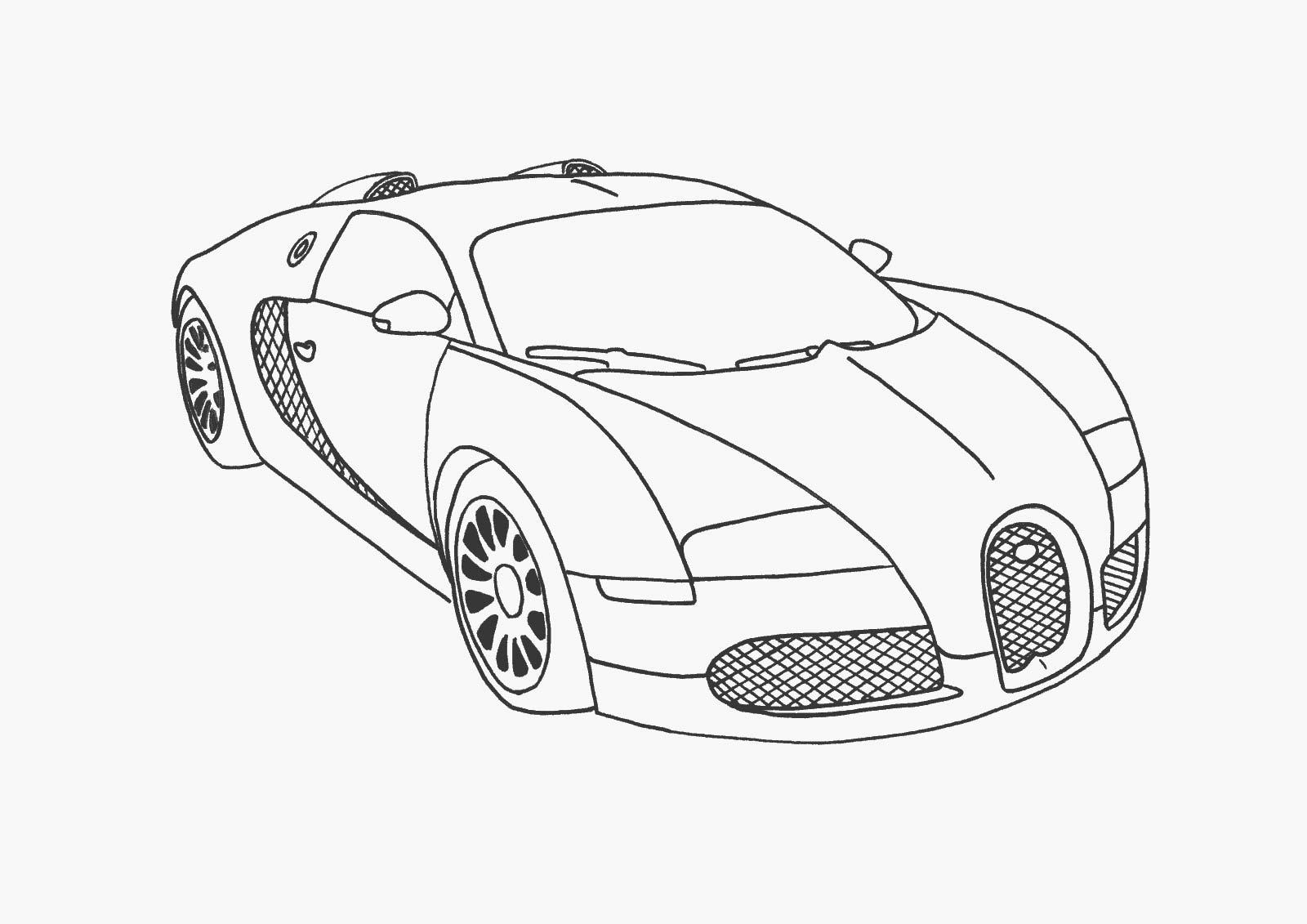 Buggatti автомабиль Раскрашивать раскраски для мальчиков