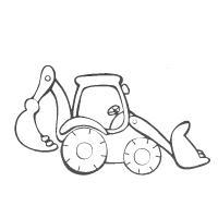 Трактор с ковшем Раскраски для мальчиков