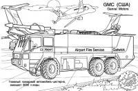 Gmc машина для аеропорта Раскрашивать раскраски для мальчиков