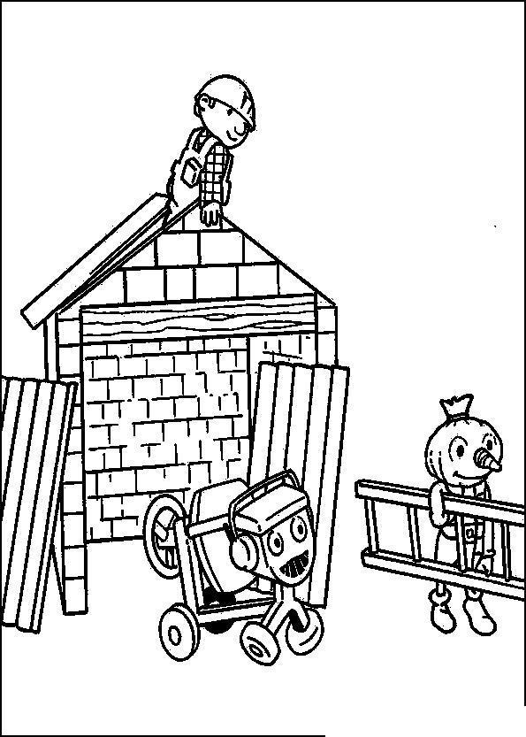Стройка дома Раскраски для мальчиков