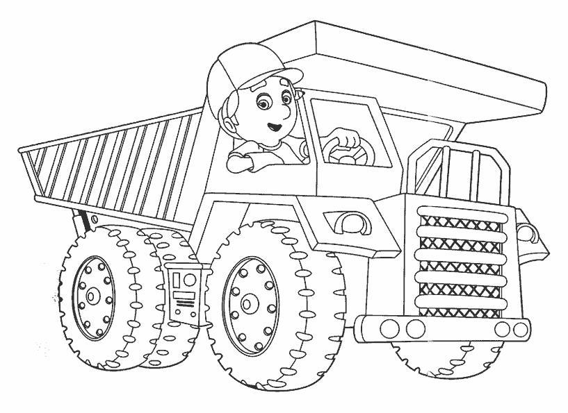 Детские машины раскраски для мальчиков