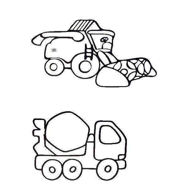 Машины для строительства Раскраски для мальчиков