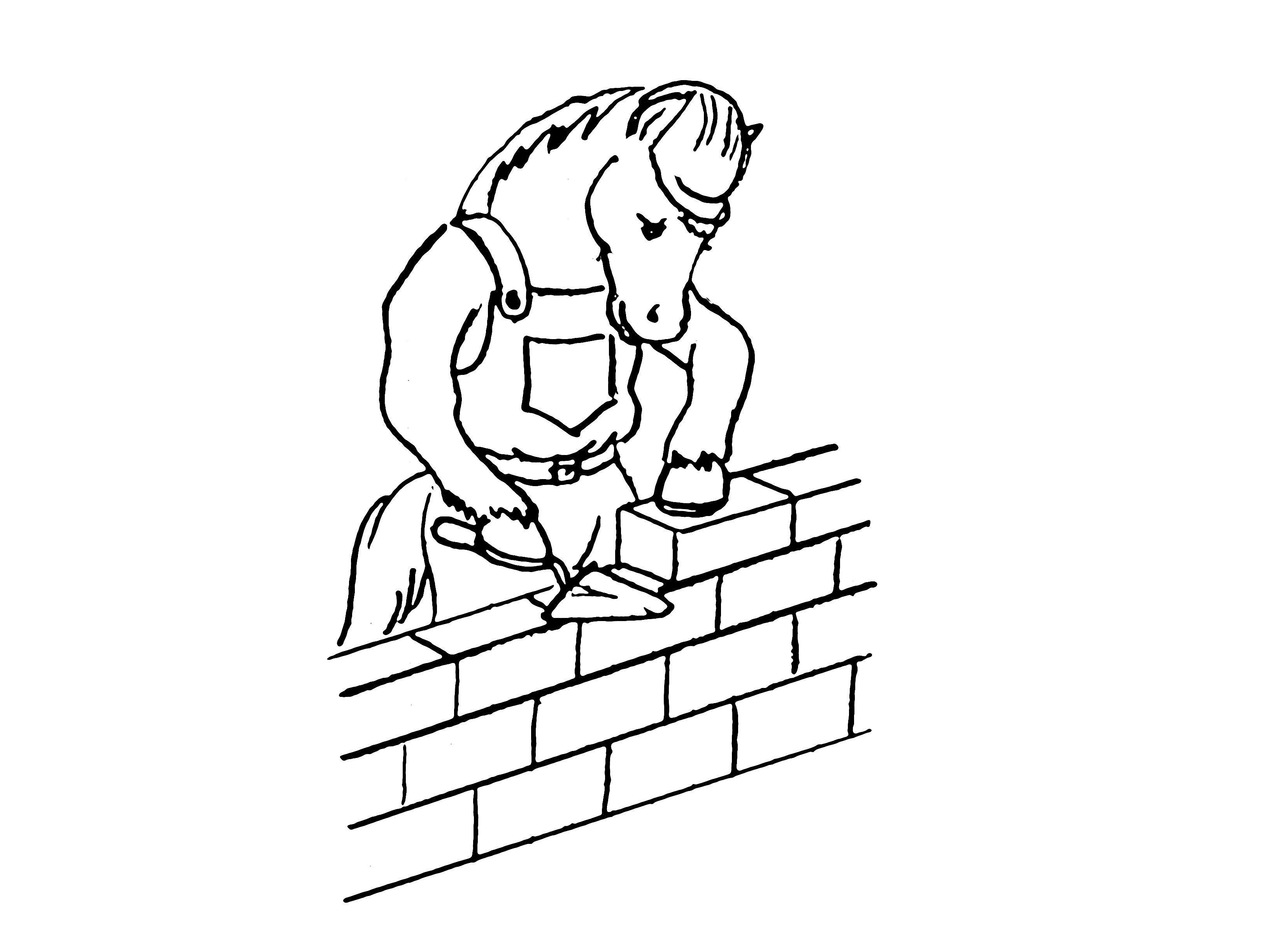 Лошадь строитель Раскраски для мальчиков