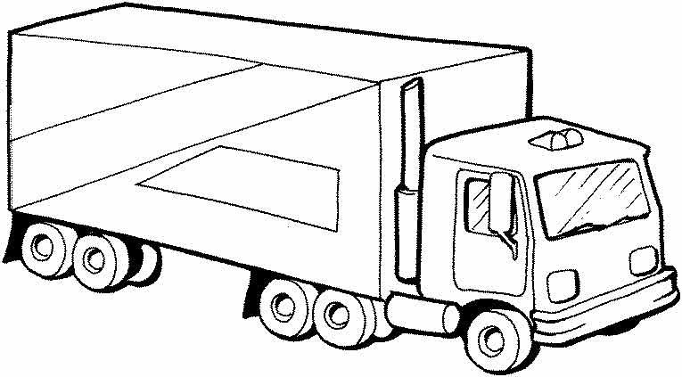 грузовое авто грузовик транспортер раскраски для детей