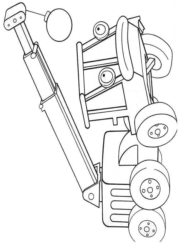 Машина с краном Раскраски для мальчиков