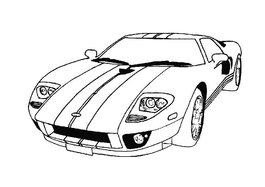 спортивная быстрая машина спортивное авто машины раскраски