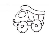 Маленький грузовичек Раскраски для мальчиков