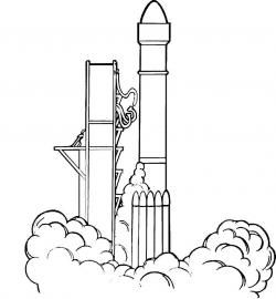 Ракета на взлете Раскрашивать раскраски для мальчиков