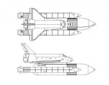 Ракета и самолет Раскраски для детей мальчиков
