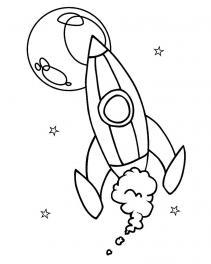 Ракета летит раскраска Раскрашивать раскраски для мальчиков