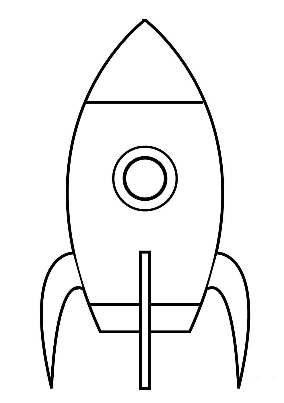 черно-белые картинки для распечатки ракеты это практически