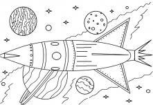 Ракета летит по млечному пути Раскраски для детей мальчиков