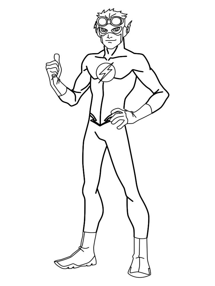 Супергерой флэш флэш супергерой Раскраски для мальчиков ...