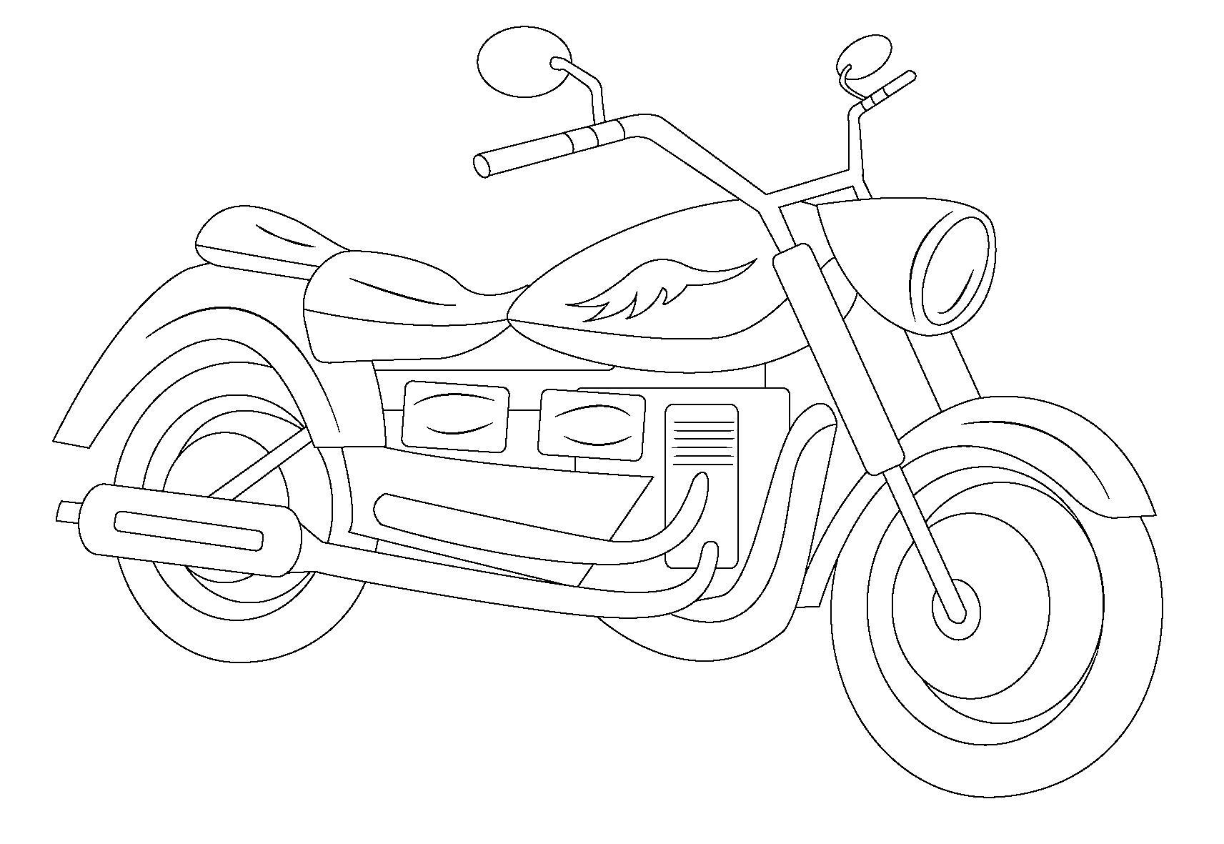 Мотоцикл харлей дэвидсон спорт Распечатать раскраски для мальчиков