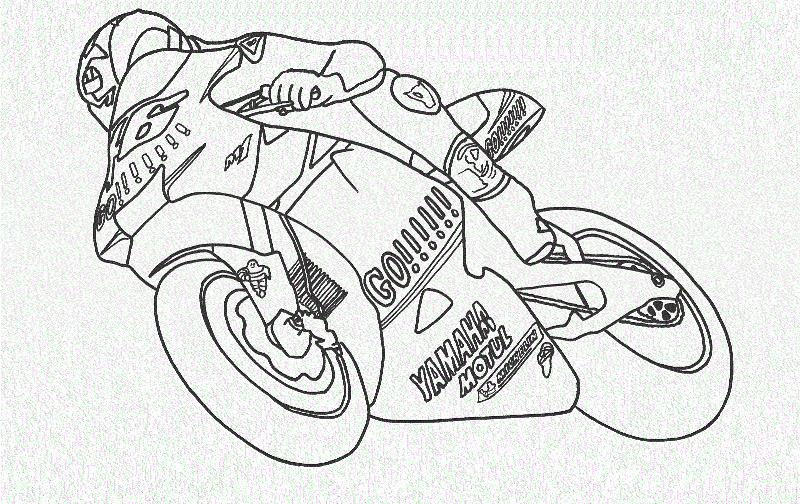 Moto gp Распечатать раскраски для мальчиков