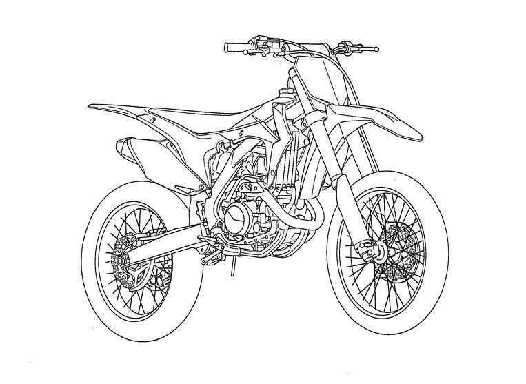 Мотоцикл для трюков Распечатать раскраски для мальчиков
