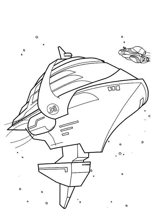 Космические корабли в космосе Распечатать раскраски для мальчиков