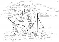 Корабль колумба Раскраски для мальчиков