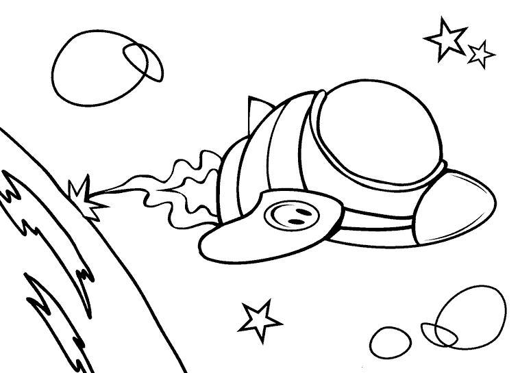 Космические корабли бороздят космос Раскрашивать раскраски для мальчиков