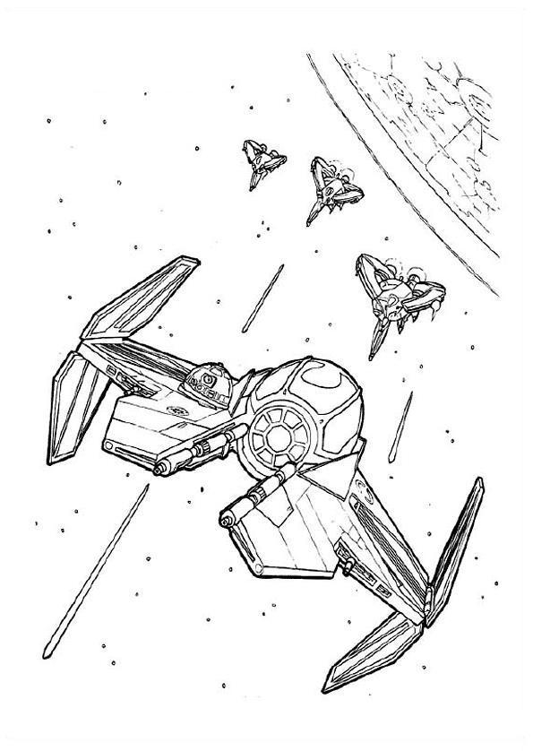 Звездные войны Раскраски для мальчиков
