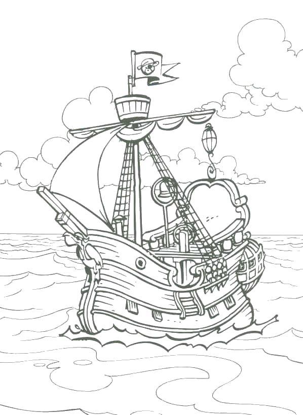 Раскраска корабль Раскраски для мальчиков