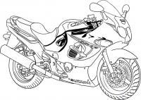 Мотоцикл сузуки раскраска Распечатать раскраски для мальчиков