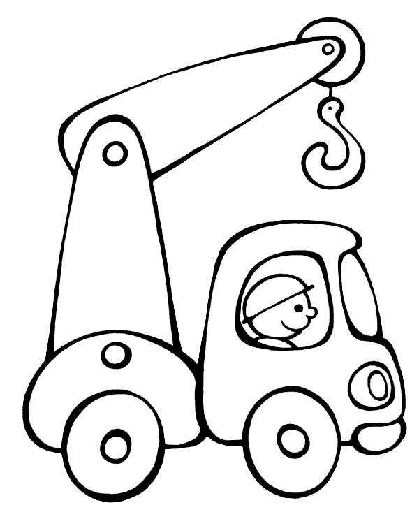 Грузовикc с краном Раскраски для мальчиков