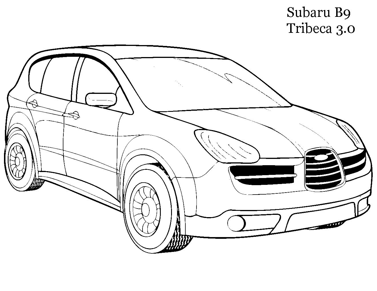 Subaru b9 tribeca 3.0 Скачать раскраски для мальчиков